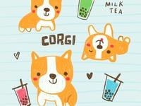 Corgis and Milk Tea