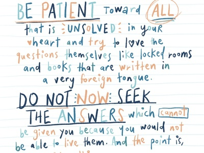 Be Patient by Maria Rainer Rilke