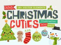 Christmas Cuties Illustration Mini-Pack