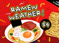 Ramen Weather font design quirky cute cool handwritten handwriting product japanese graphic design design packaging typography type font