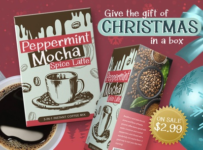 Peppermint Mocha product mockup