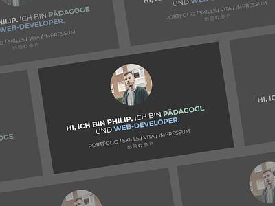 Web-Developer Landing Page mockup design website ui