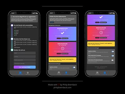Registration form - iOS App branding ios design mockup ux