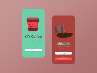 Daily Ui #011 - Success/Error
