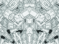Kaleidoscopic toy car print