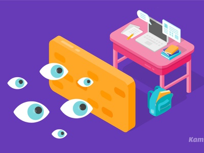 Data Security information eyes protection privacy data protection data privacy data vector illustration flat design kami vector art illustration