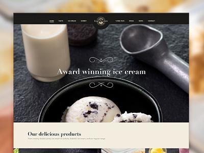 English Lakes avenir ice cream didot gold luxury