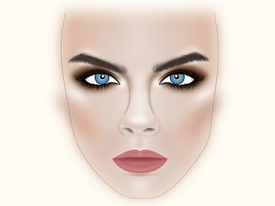 Facechart facechart makeup
