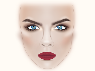Facechart cara delevigne facechart makeup
