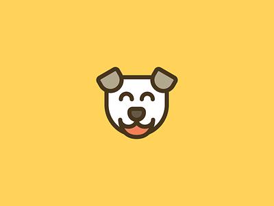 Doggo #1 outline line logo dog