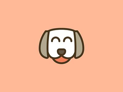 Doggo #2 outline line logo dog