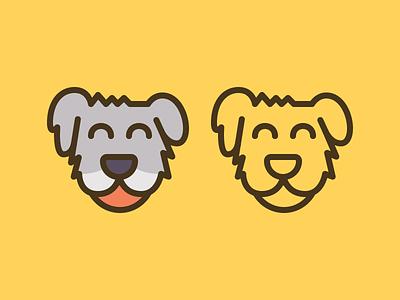 Doggo #4 outline line logo dog