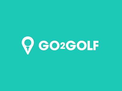 Golf course search logo tee location marker avant garde logo golf