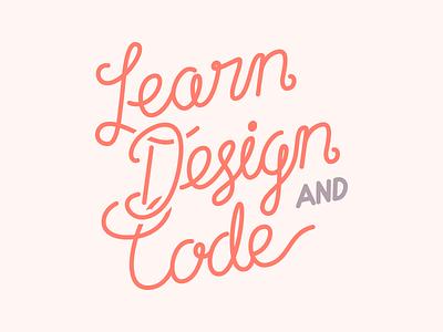Learn design & code lettering monoline hand red code design lettering