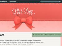 Start of a blog