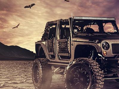 Full Metal Jacket jeep photography image editing car photoshop ramiro galan photo manipulation graphic composite pixel kings galan design