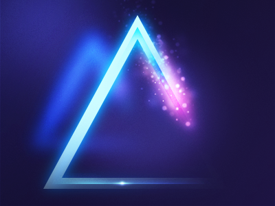 Triangle galan graphic game ramiro sparkle shape triangle ramiro galan ui galan design blue