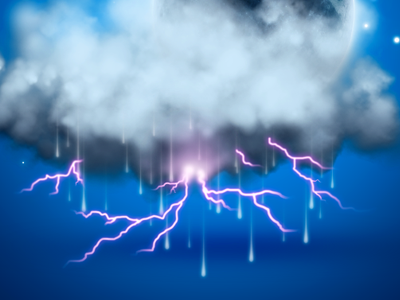 Lightning Storm (WIP) lightning storm icon weather weather icon weather app ramiro ramiro galan pixel kings galan design galan www.galandesign.com
