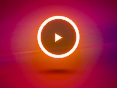 Play Icon ui user interface ramiro ramiro galan pixel kings button red warm play button media web play