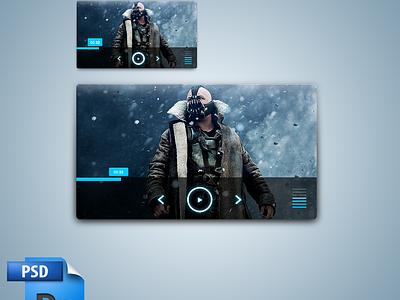 Simple Media Player - PSD web web design pop up ramiro galan ramiro pixel kings media player player video video player psd freebie photoshop