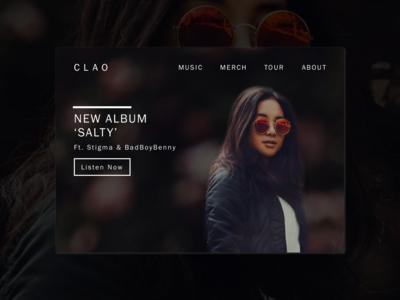 Daily UI 003 // Landing Page