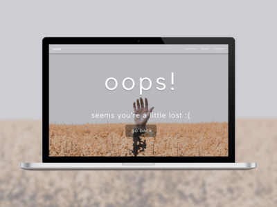 Daily UI 008 // 404 Page