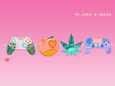 Peaches And Green Twitch Banner