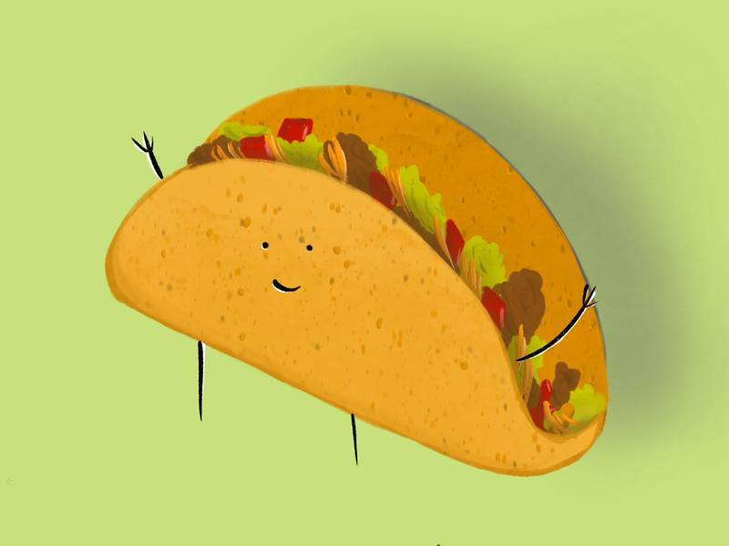 Taco 'bout awesome digital drawing illustration ipad procreate apple pencil