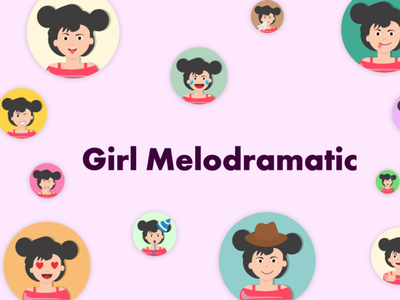 Girl melodramatic columns campaign promotion article home landing blog hubspot ui ux uiux illustrations/ui illustration art animations motion webdesign app web icons illustrations