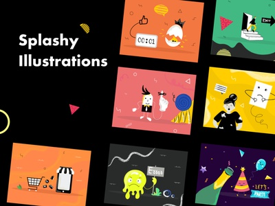 Splashy illustrations custom wordpress branding creative icons set uidesign uiux ui emails promotions pages blog landing home hubspot packs uikits themes illustrations icons