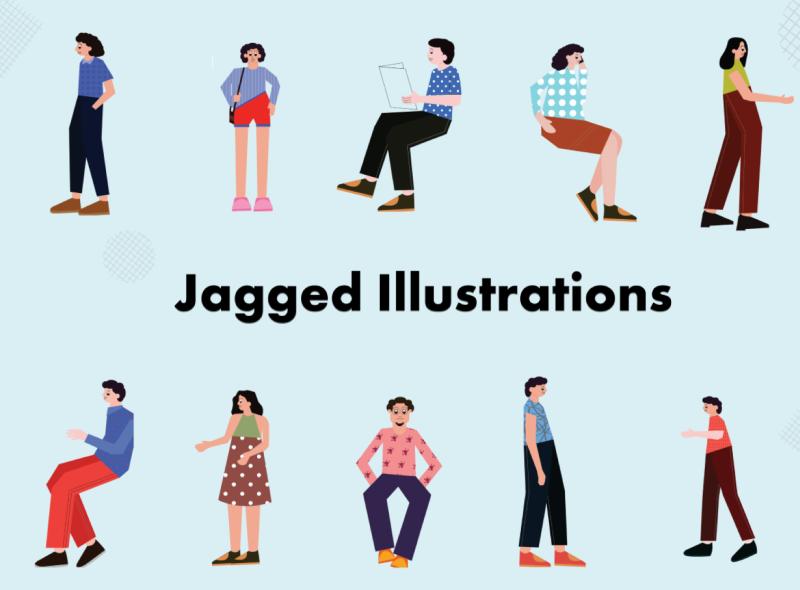 Jagged illustration