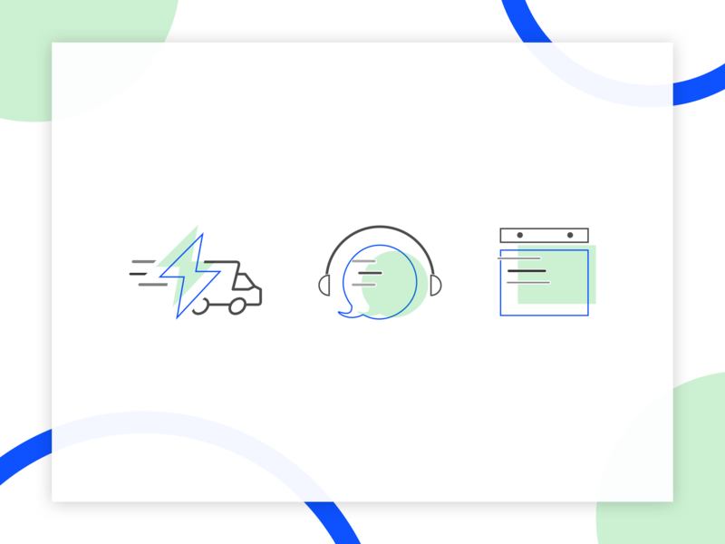 Icons: Fast Delivery, Communication/Get help, Calendar sketchapp calendar help communication delivery flaticons vector uiux ui illustration adobe illustrator illustrator icons