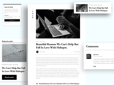 Single Post/Article Page featured related posts author adobe xd xd sketchapp uiux adobe illustrator website design article blog post blogpost