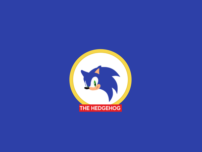 Sonic drawing logo illustration
