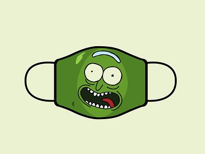 Pickle Rick icon design