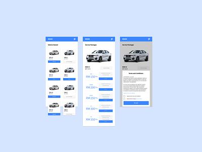 Car Service ux ui mobile app design