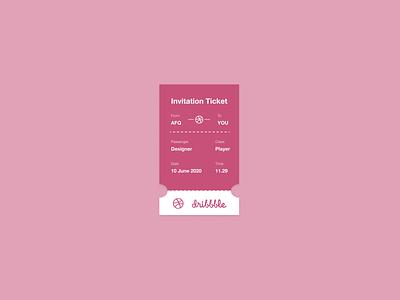 Dribbble Ticket branding design