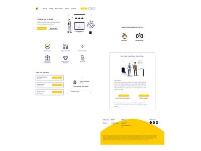 Finance website design