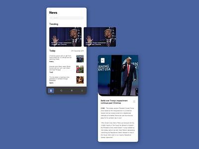 News App mobile app design