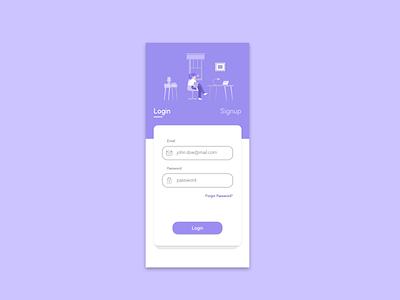 Login Page mobile app design