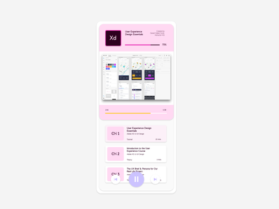 Learning page mobile app design