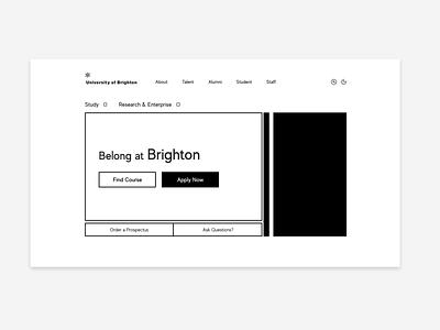 Home : University Website website design
