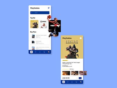 Playstation App mobile app design