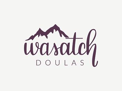 Wasatch Logo hand lettered logo