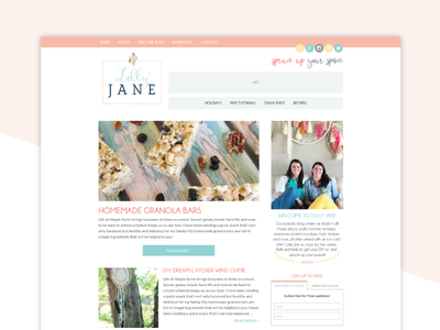 New Blog Design for Lolly Jane genesiswp wordpress web design blog design