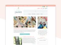 New Blog Design for Lolly Jane