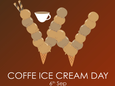 Happy Ice cream Coffee day!