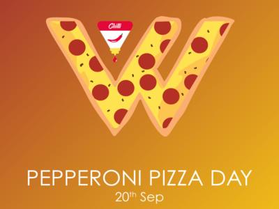 Happy Pepperoni Pizza day! celebration illustration colored design branding