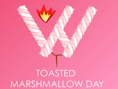 Happy Toasted Marshmallow Day! inspiration creative design colored branding