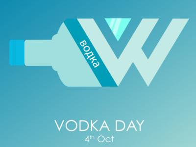 Happy Vodka Day! design colored illustration creative branding